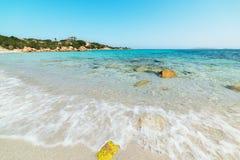 Beautiful sea in Spiaggia del Principe. Sardinia royalty free stock image