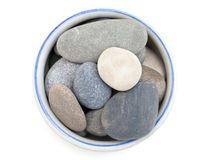 Beautiful sea stones in a bowl Stock Images