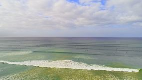 Beautiful sea on a sunny day 4k. View of a beautiful sea on a sunny day 4k stock footage