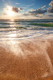 Beautiful sea sunrise and cloudscape Royalty Free Stock Image