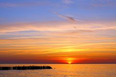 Beautiful sea sunset Royalty Free Stock Images
