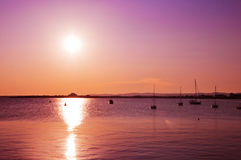 Beautiful sea sunset Royalty Free Stock Photography