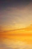 Beautiful sea sunset Stock Photos