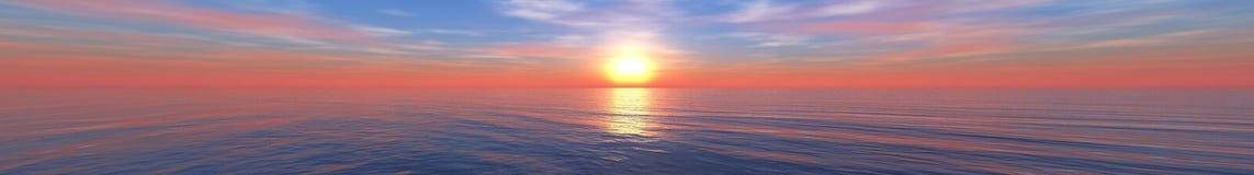 Beautiful sea sunset on the beach Stock Photography