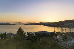 Beautiful sea sunset in Bodrum,Turkey Royalty Free Stock Photo