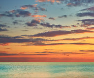 Beautiful sea sunset cloudy sky Royalty Free Stock Images