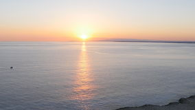 Beautiful sea at sunset. The sea at sunset in Cyprus stock footage