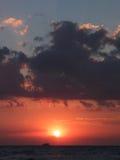 Beautiful sea sunset i Royalty Free Stock Images