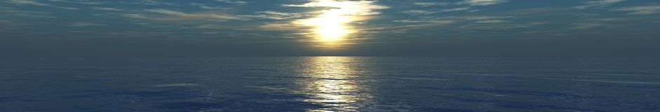 Beautiful sea sunset on the beach Royalty Free Stock Images