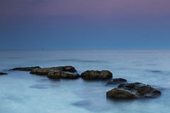 Beautiful Sea after Sunset Stock Images