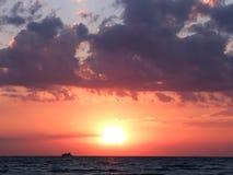 Beautiful sea sunset Stock Image