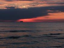 Beautiful sea sunset Royalty Free Stock Image
