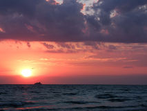 Beautiful sea sunset Royalty Free Stock Photos