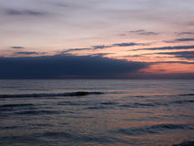 Beautiful sea sunset in summer time Royalty Free Stock Image