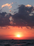 Beautiful sea sunset in summer time Royalty Free Stock Photo