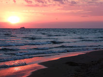 Beautiful sea sunset in summer time Stock Photography