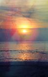 Beautiful sea sunset Royalty Free Stock Photos