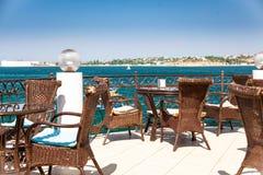 Beautiful sea terrace. Beautiful terrace near the Black sea royalty free stock photography