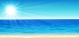 Beautiful sea. Vector illustration of a beautiful summer sea panorama stock illustration