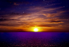 Beautiful sea Vibrant nature Background. Beautiful sea Vibrant nature Night Sky Stock Photo