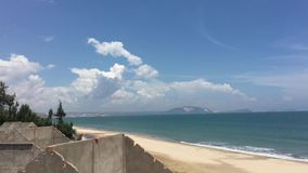 Beautiful sea of Vietnam. Beautiful sea with sunny beach in Phan Thiet, southern Vietnam. About 200 km north of Ho Chi Minh City are Mui Ne and Phan Thiet stock footage