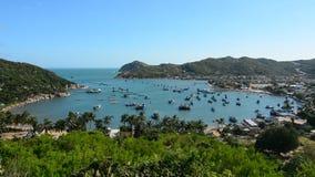 Beautiful sea of Vietnam. View of Vinh Hy bay, Ninh Thuan, southern Vietnam. Viet Nam's coastline is 3260 kilometres long and its inland borderline stock footage