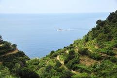 Beautiful sea view. Cinque Terre, Liguria, Italy,sea view Stock Photos