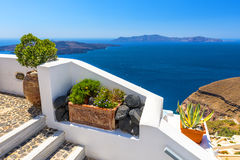 Beautiful Sea View From Fira In Santorini, Greece Royalty Free Stock Photos