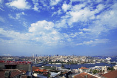 Beautiful sea view in Istanbul. Stanbul city panoramic view, Turkey 20 march 2014 Royalty Free Stock Photography