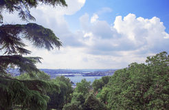 Beautiful sea view in Istanbul. Stanbul city panoramic view, Turkey 20 march 2014 Stock Image