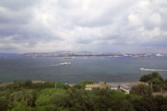 Beautiful sea view in Istanbul. Stanbul city panoramic view, Turkey 20 march 2014 Stock Photography