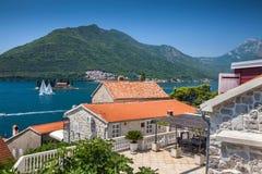 Beautiful sea view. Kotor bay in Montenegro royalty free stock image