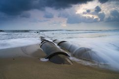 Beautiful sea view landscape of tropical island.soft wave hittin royalty free stock image