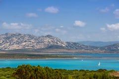 Beautiful sea view near La Pelosa beach, Sardinia Stock Images