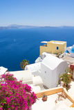 Beautiful sea view in Oia village on island of Santorini Stock Images