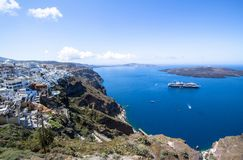 Beautiful sea view, Santorini, Greece Stock Photo