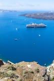 Beautiful sea view, Santorini, Greece Stock Images