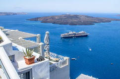 Beautiful sea view, Santorini, Greece Royalty Free Stock Photography