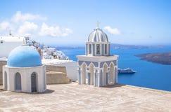 Beautiful sea view, Santorini, Greece Stock Photo