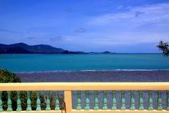 Beautiful sea view. Terrace overlooking sea on Koh Samui island, Thailand Stock Images