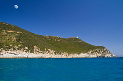 Beautiful sea of Villasimius Stock Images