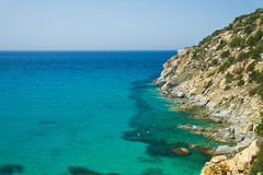 Beautiful sea of Villasimius Royalty Free Stock Images