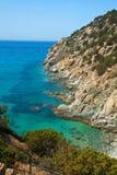 Beautiful sea of Villasimius Stock Photos
