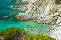 Beautiful sea of Villasimius Royalty Free Stock Photography