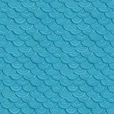 Beautiful sea wave vector blue pattern. Royalty Free Stock Photos