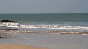 Beautiful sea waves. On the beach stock video