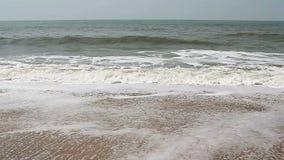 Beautiful sea waves. On the beach stock footage