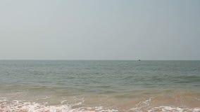 Beautiful sea. Waves on the beach stock video footage