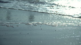 Beautiful sea waves on a sandy beach stock video