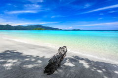 Beautiful sea and white sand beach royalty free stock photo